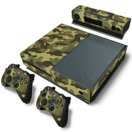 games for xbox one NZ - Camouflage Game Cosole Decal Skin Stickers For Xbox One Console Vinyl Skin+2PCS Controller Stickers