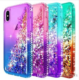 Discount luxury sparkle cases - Brand New For Iphone XS Case Luxury Glitter Liquid Quicksand Floating Flowing Sparkle Shiny Bling Diamond Stylish Clear