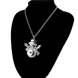 Noosa giNger sNap buttoNs online shopping - Christmas Snap Necklace Silver Interchangeable Jewelry Fits MM Noosa Ginger Snaps Chunk Charm Button Women Girl Children Christmas Gift