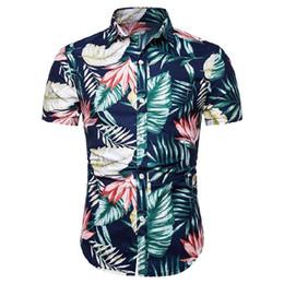 $enCountryForm.capitalKeyWord UK - Flower Men Shirt Casual Dress Shirt for Man Short sleeve Hawaiian style Floral Blouse Men's clothing Summer New