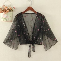 Fairy Blocks Australia - Summer 2019 new mesh embroidery sun block cardigan with seaside lace dress the fairy loose shawl
