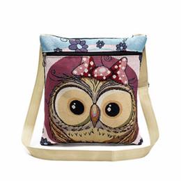 Cheap Organic Australia - Cheap Designer Owl Tote Bags Women Shoulder Bag Handbags Postman Package Embroidered Handbag Women crossbody bags for womens Lucky's