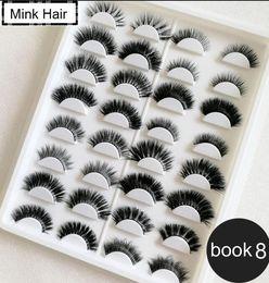 Wholesale popular books for sale – custom Popular faux mink eyelashes D Silk lashes D mink eyelashes pairs lashes book Thick long Lashes False Eyelash box eyelash book