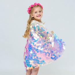 $enCountryForm.capitalKeyWord Australia - 2019 New style baby girl mermaid Cloak colorful glitter cute princess Cloak Boutique Costume cosplay props