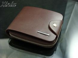 $enCountryForm.capitalKeyWord NZ - Mens PU Leather ID Card Holder Billfold Zip Purse Wallet Handbag Clutch Purse Short Male Clutch Leather Wallet Mens Money Bag