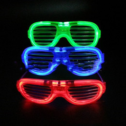 Glow Glasses Party Supplies Australia - Led Rave Toy Light up Kids Christmas Party Glowing Glass for Rave Costume Party Decoration Supplies Free Shipping