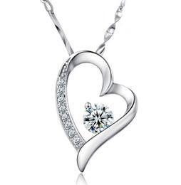 $enCountryForm.capitalKeyWord Australia - High quality Austrian crystal Diamonds Love Heart Pendant Statement Necklace Fashion Class Women Girls Lady Swarovski Elements Jewelry 001