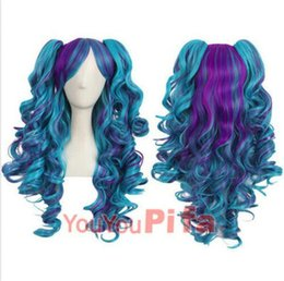 lolita wave wig NZ - Details about Women Lolita Curly Wavy Cosplay Wig Fashion Miku Hair Wigs Clip on Ponytails