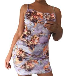 Sexy Decor Australia - New Fashion 2019 Women's Fashion Sexy Sling Slim Fit Wrapped chest Print Vest Dress Hot Sale Home Decor Funny print
