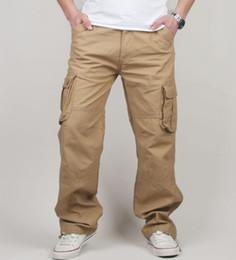 Mens Long Cotton Trousers Australia - 30-44 Plus Size High Quality Men's Cargo Pants Casual Mens Pant Multi Pocket Military Tactical Long Full Length Trousers Y19042201