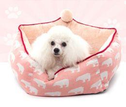 $enCountryForm.capitalKeyWord Australia - Pentagon Shape Polar Bear Geometric Pattern Pet House Breathable Fashion Removable Dog kennel Cat Nest Lovely Puppy Teddy Sleeping Bed