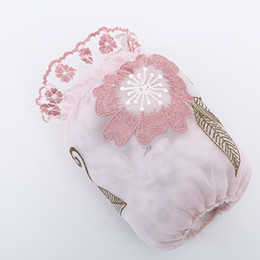 $enCountryForm.capitalKeyWord Australia - 1 Pair Random Color Kitchen House Dining Cooking Thicken Sleeve Lace Flower Embroidery Antifouling Washable Sleeve