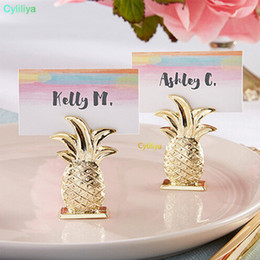 Gold table number holders online shopping - Hot style Gold Pineapple Place Card Holder Table Number Figure Stand Party Supplies Wedding Digital Seat Decor
