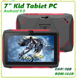 7 inch tablet pc UK - Kids Brand Tablet PC 7 inch Q98 Quad Core A33 1024*600 HD screen Android 9.0 AllWinner A50 Real 1GB + 16GB with Bluetooth PK Q8 MQ50