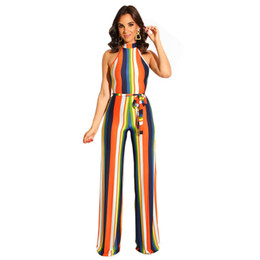 $enCountryForm.capitalKeyWord UK - Summer Bodycon Stripe Jumpsuits Women Sexy Party Clubwear Jumpsuits Casual Bowtie Overalls Jumpsuit Plus Size