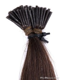 Brown Hair Bonding Australia - 300Strands 150g set Pre-bonded Brazilian Remy Human Hair Extension I Stick tip Extension Dark Brown Color 2# 0.5g strand, free DHL