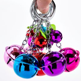 $enCountryForm.capitalKeyWord Australia - hot Korean fashion cute candy color bell key ring couple pendant two-color metal paint Keychains lady bag pendant children's toys T2C5044