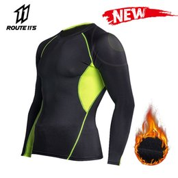 base layer thermals Australia - New Motocross Fleece Thermal Outdoor Sport Underwear Motorcycle Skiing Winter Warm Base Layers Tight Long Shirt Motorcycle Men