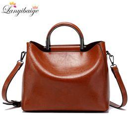 Big Ladies Handbags Australia - Classic Women Tote Retro Women Bag High Quality Leather Crossbody Bag Designer Lady Brand Shoulder Bags Brown Big Handbags Sac