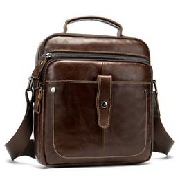 $enCountryForm.capitalKeyWord Australia - Coffee Men Travel Bags Genuine Leather Messenger Bag For Businessman High Quality Cross Body Shoulder Bags Small Handbag