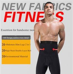 Wholesale Men Body Shaper Pants High Waist Tummy Control Belt Slimming Panties Beer Belly Abdomen Girdle Fitness Underwear Shape Wear