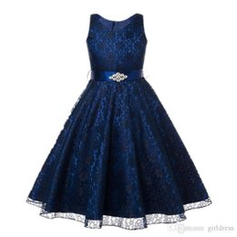 Wholesale Hot style lace skirts Girl dress children s dress princess skirt lace flower child performance dress