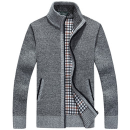 $enCountryForm.capitalKeyWord Australia - New Winter Plus Size3xl Mens Sweaters Men Thick Long Sleeve Wool Cardigan Men Sweater Jacket Casual Knitted Sweater Clothing