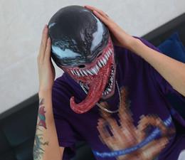 Spider Man Spiderman Mask Australia - New Spider-Man The Venom Mask with Long Tongue Cosplay Spiderman Edward Brock Dark Superhero Venom Latex Horror Mask Beanie Hat