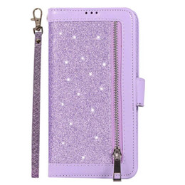 $enCountryForm.capitalKeyWord Australia - For Samsung A10E A20 A9 A7 A6 Plus 2018 S10 E S9 Plus Covenient Design Card Pocket Flash Zipper Leather Case With Hand Chain