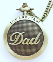 $enCountryForm.capitalKeyWord Australia - Dad Gifts Series Retro DAD Quartz Pocket Watch Casual Necklace Pendant Antique Style Steampunk Men Chain Watch Father's Day Gift