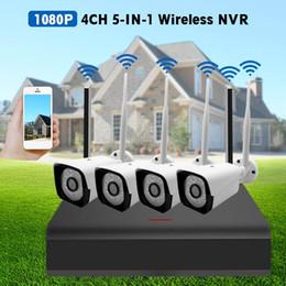 dvr security system wireless cameras 2019 - 4CH CCTV System 1080P HD AHD CCTV DVR 4Pcs IR Security Camera Outdoor Waterproof Wireless WiFi Video Surveillance Cam Ki