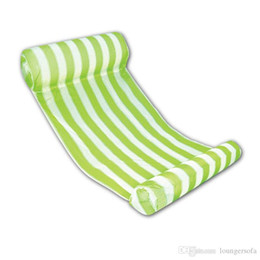 Pool wear online shopping - Summer Water Hammock Nflatable Floating Bed Water Lounge Chair Bule Pink Green Inflatable Pool Light Wear Resistant qy dd