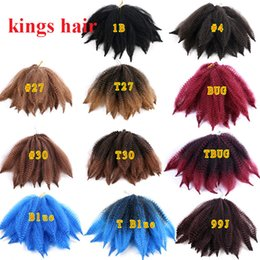 kinky hair braids NZ - 8 Inch Afro Kinky Twist Crochet Marley Braiding Hair Marley Kinky Crochet braids Marley Hair Synthetic Extensions 14 Strands pack
