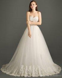 Fofo alça de ombro vestido de noiva 2018 novo destacável sexy lace elegante retro princesa do casamento da igreja noiva querida tubo top casamento dr