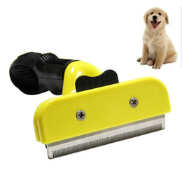 $enCountryForm.capitalKeyWord Australia - Pet Dog Comb Stainless Steel For Fur Cleaning Hair Removal Brush Cat Grooming Combs Tool Soft Handle Pets Supplier Accessories
