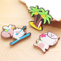 $enCountryForm.capitalKeyWord Australia - 4Pcs Silicon gel + Magnet Cartoon Animal Fridge Sticker Creative Sticker Fridge Magnet Child Gift Home Decor