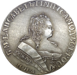 Russia Coins Copies Australia - Russia Empire Elizabeth 1 Rouble 1743 MMA Barss Plated Silver Copy Coins Crafts