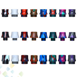 Wholesale 810 Stripe Epoxy Resin Drip Tip vape mouthpiece Newest Wide Bore driptip for thread Atomizers Accessories DHL