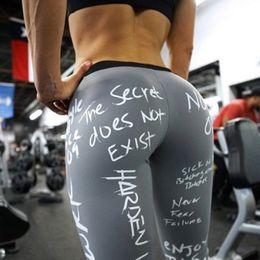$enCountryForm.capitalKeyWord Australia - Black Letter Print Streetwear Leggings Women Sexy Fitness Leggings Mujer Sexy Push Up Sweatpants Pants
