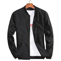 Wholesale black windbreakers for sale – winter Big Size XL XL Mens Spring Summer Jackets Casual Thin Male Windbreakers College Bomber Black Windcheater Hommes Varsity Jacket