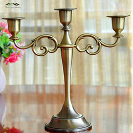 $enCountryForm.capitalKeyWord Australia - Hot Metal Silver gold Plated Candle Holders 3-arms Stand Zinc Alloy High Quality Pillar For Wedding Portavelas Candelabra SH190716