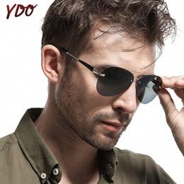 Classic Alloy NZ - YDO Polarized Sunglasses Men 2019 Classic Pilot Sun Glasses Brand Designer Glasses Black Alloy Frame Sports Driving Shades Male