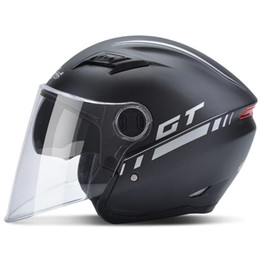 China 2018 NEW ARRIVE Andes B-639 double lenses half face Motorcycle helmet electric bicycle helmets anti-fog cycling helmet supplier motorcycle half helmets women suppliers