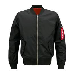 $enCountryForm.capitalKeyWord Australia - Autumn mens sports jackets large size Men Pilot Bomber Jacket Male stand collar Baseball Arm zipper decoration coat outwear