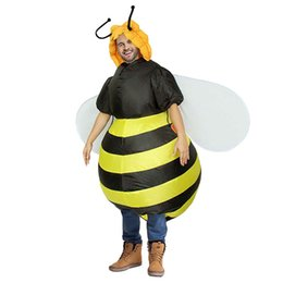 $enCountryForm.capitalKeyWord Australia - Inflatable Bumble Bee Costumes for Women Halloween Adult Fancy Dress Outfit mascot Animal Purim Party Blowup Carnival