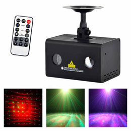 Mini Laser Stage Lighting Remote Australia - AUCD Mini Remote Red Green RG Laser Stage Lighting RGB LED Galaxy Meteor Sound AUTO Mode Show Disco Party DJ Light LL-100RG