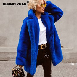 c4ec6a99c Cozy Faux Rabbit Fur Coats Jackets Chic Women Winter 2018 Must Have Soft Rabbit  Fur Jacket Thicken Warm Long Overcoats for Women