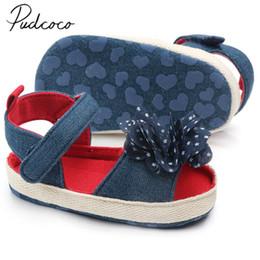 $enCountryForm.capitalKeyWord Australia - 2019 Baby Sandals Clogs Newborn Kid Baby Girl Flower Sandals Summer Casual Crib Shoes First Prewalkers Big Flower Shoes