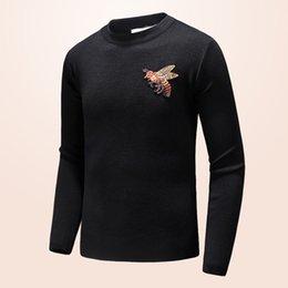 2019 мужской свитер пуловер с капюшоном с длинным рукавом роскошный дизайнер фуфайка вышивка трикотаж зимняя одежда-XXL-22-3 на Распродаже