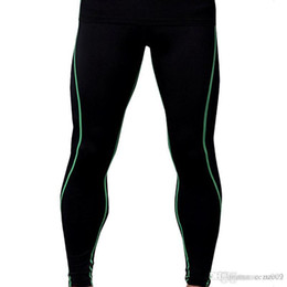 Wholesale Fitness male basketball running training pants elastic compression fast pants sports tight seven points MA42